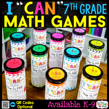 7th Grade Math Games BUNDLE - ALL Standards