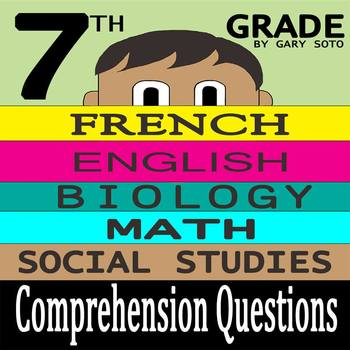 """Seventh Grade"" by Gary Soto - 10 Comprehension Questions"