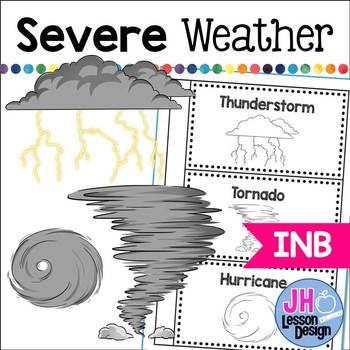 Severe Weather Foldable: Thunderstorm, Tornado, Hurricane