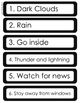 Weather Preparedness - What to do in case of a storm