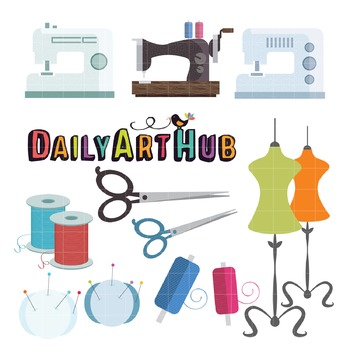 Sewing Hobby Clip Art - Great for Art Class Projects!