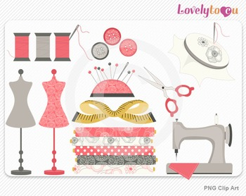 Sewing clipart, PNG clip art (101)