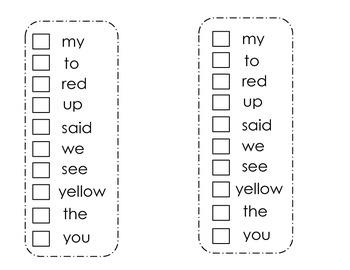 Sght Word Sticker Book