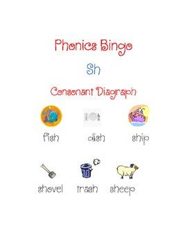 """Sh"" Consonant Digraph Bingo"