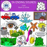 Sh Ending Sounds Clip Art