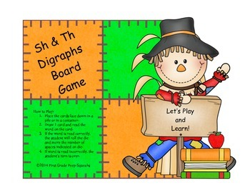 Sh & Th Digraphs Board Game