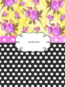 Shabby Chic-Editable Binder (Teacher, Principals and Counselor)
