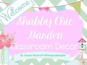 Shabby Chic Garden Classroom Decor