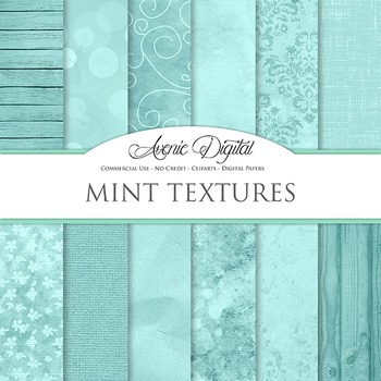 Shabby chic Mint Textures Background Digital Paper scrapbo