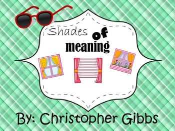 Shades of Meaning Center Activity