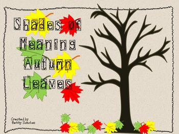 Shades of Meaning Fall Leaves (individually, bundled or ME