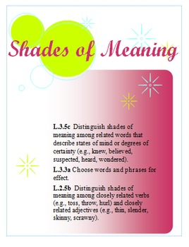 Shades of Meaning Unit