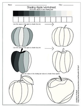 Shading Apple Worksheet