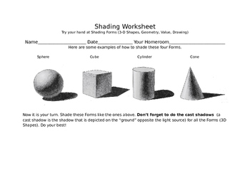Shading Forms/ 3D Shapes