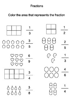 Shading Fractions Worksheet