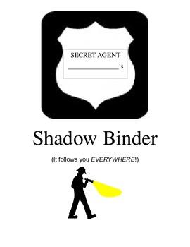 """Shadow Binder"" student homework binder (detective theme)"