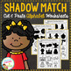Shadow Matching Cut & Paste Worksheets: GROWING BUNDLE