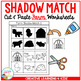 Shadow Matching Farm Cut & Paste Worksheets