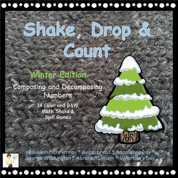 Shake, Drop and Count - Shake and Spill Math Games - Winte