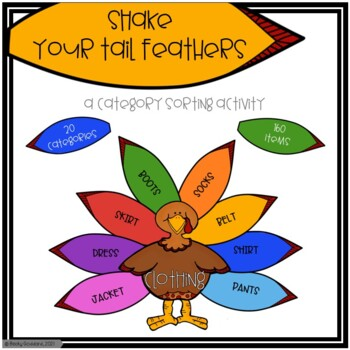 Shake Your Tail Feathers!! A Turkey Category Sorting Game