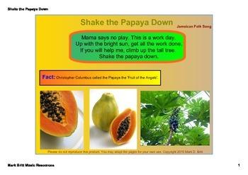 Shake the Papaya Down - Teaching Syncopation (Orff & Kodal