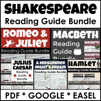 Shakespeare Play Pack With Complete Guides for Five Shakes