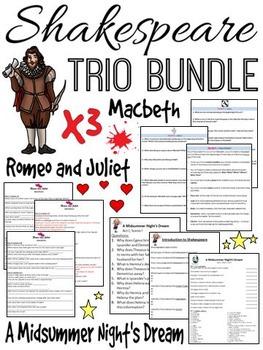 Shakespeare Bundle (A Midsummer Night's Dream, Romeo and J