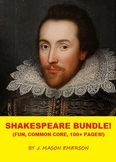 SHAKESPEARE BUNDLE! (Fun, Common Core, 113 Pages At Super