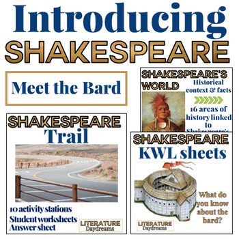 Shakespeare Introduction 3 activity bundle