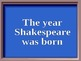 Shakespeare Jeopardy PowerPoint Game