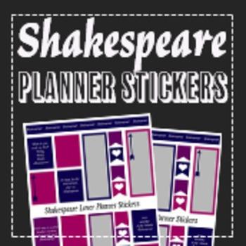 Shakespeare Lover Theatre Stickers