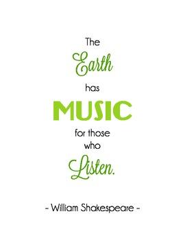 Shakespeare Music Quote
