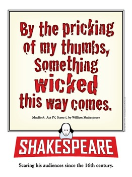 Shakespeare. Something Wicked. 18 x 24 printable poster.