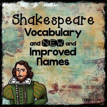 Shakespeare Vocabulary, Phrases, and Creativity