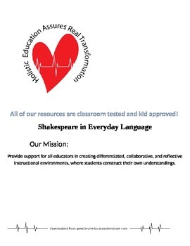 Shakespeare in Everyday Language