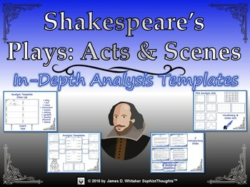 Shakespeare's Plays Analyzing Acts and Scenes Templates an