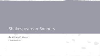 Shakespearean Sonnets Powerpoint