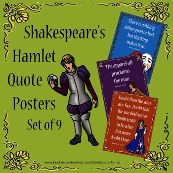 Shakespeare's Hamlet Quote Posters