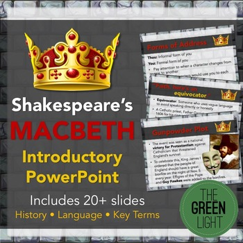 Shakespeare's Macbeth Introductory PowerPoint and Discussi
