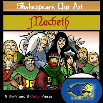 """Shakespeare's """"Macbeth""""Clip-Art (16 pc. BW and Color!)"""