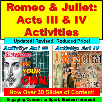 Shakespeare's Romeo and Juliet Poster Paper Project