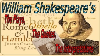 Shakespeare's Interpretations Activities PowerPoint, featu