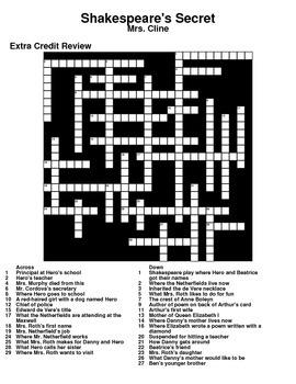Shakespeare's Secret Crossword Puzzle Review