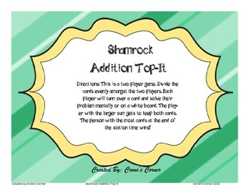 Shamrock Addition-Top It