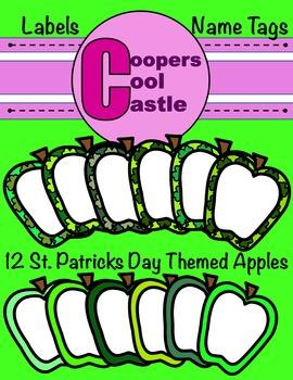 Shamrock Apples (Digital Clip Art) CCC
