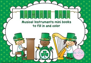 Shamrock Band - Musical Instruments mini books to color in