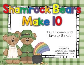 Shamrock Bears Make 10 Composing Numbers to 10 Kindergarte
