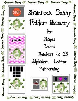 Shamrock Bunny St Patricks Day Center Activity Color Shape