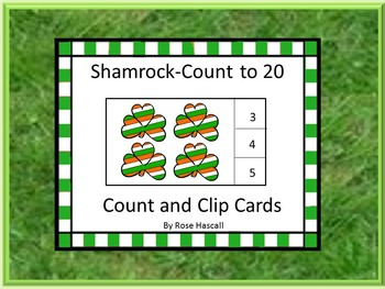 St. Patrick's Day Counting to 20 Task Cards Kindergarten A