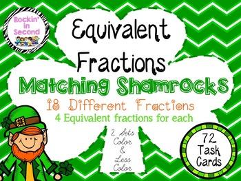 Shamrock Equivalent Fractions Bundle